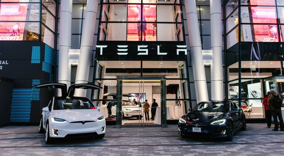 Lo store Tesla a Boston