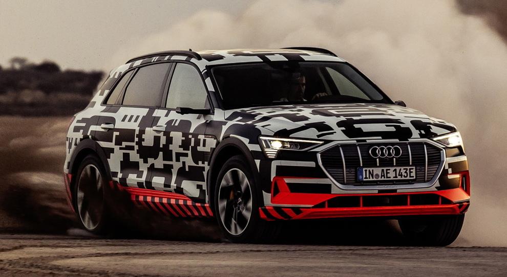 L'Audi e-tron in Namibia