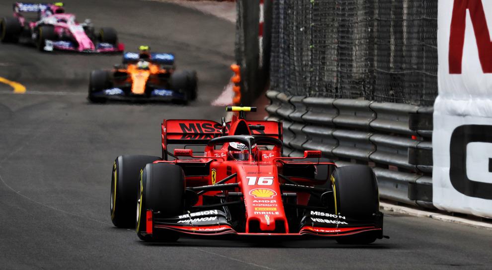 Leclerc impegnato nella sua Montecarlo lo scorso anno
