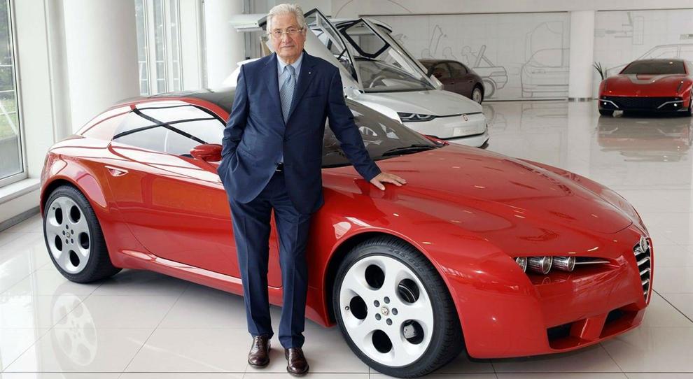 Giorgietto Giugiaro con l'Alfa Romeo Brera