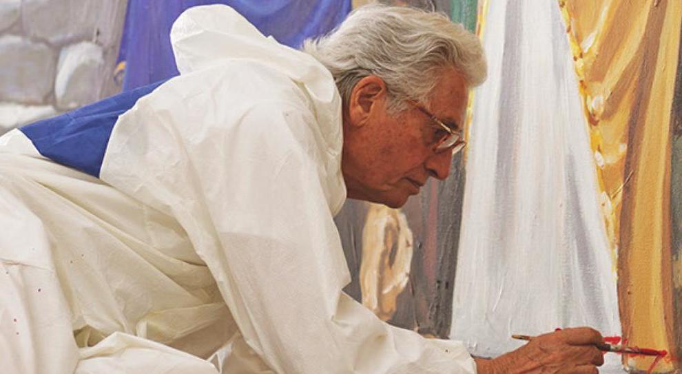 Giorgietto Giugiaro realizza un dipinto per il suo paese