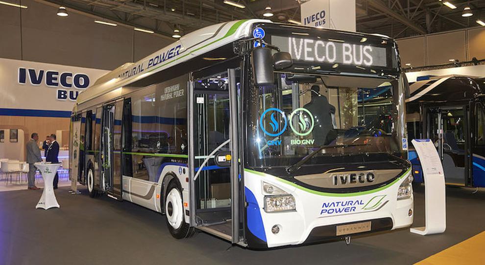 Un autobus a gas di Iveco