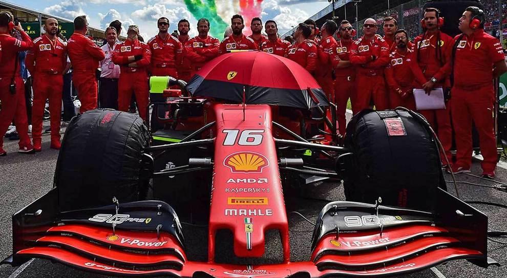 Gli uomini del team Ferrari di F1
