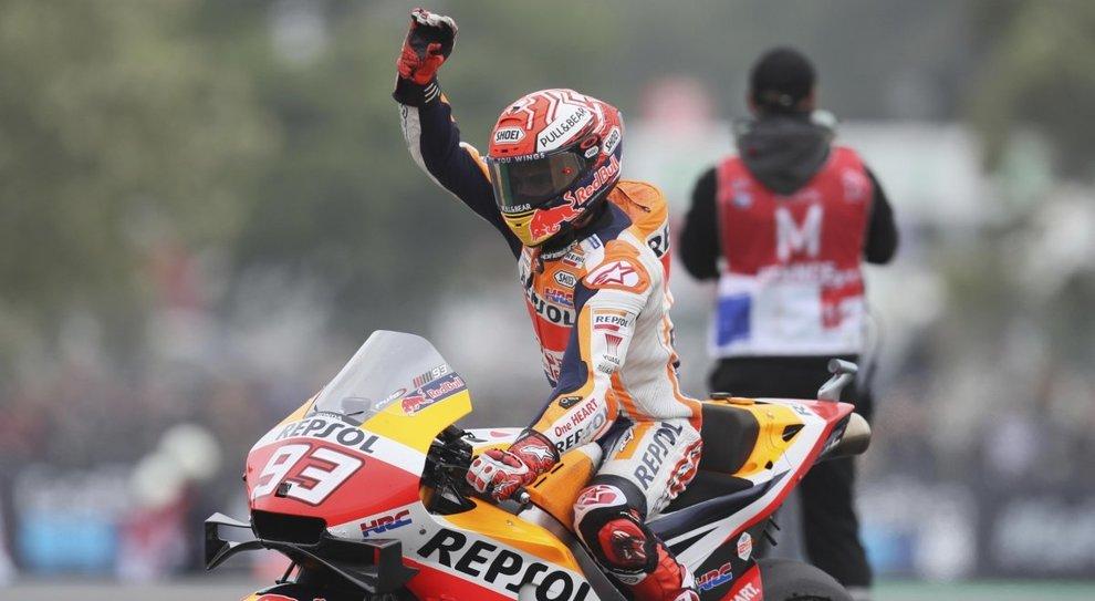 La felicità di Marquez dopo la vittoria