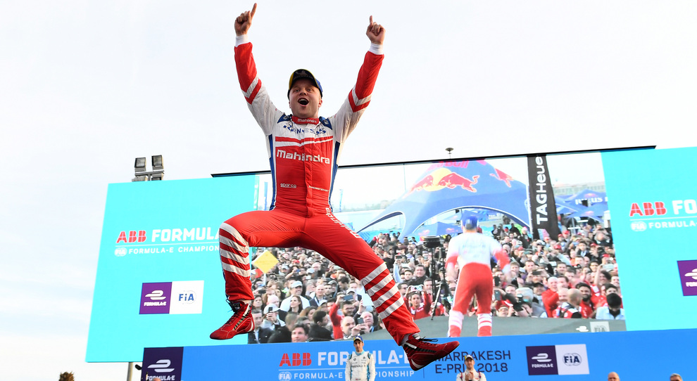 La gioia di Felix Rosenqvist sul podio di Marrakesh