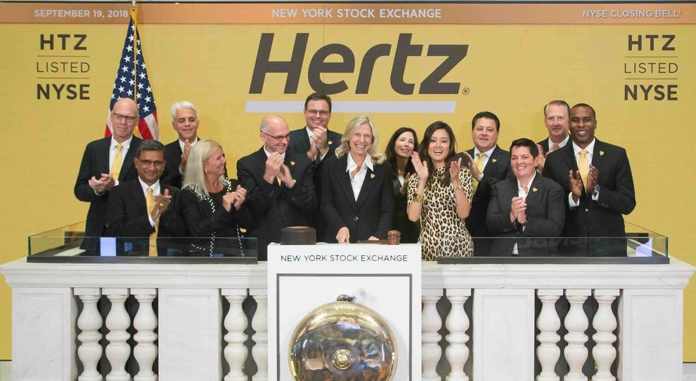 Il top management di Hertz alla Borsa di New York