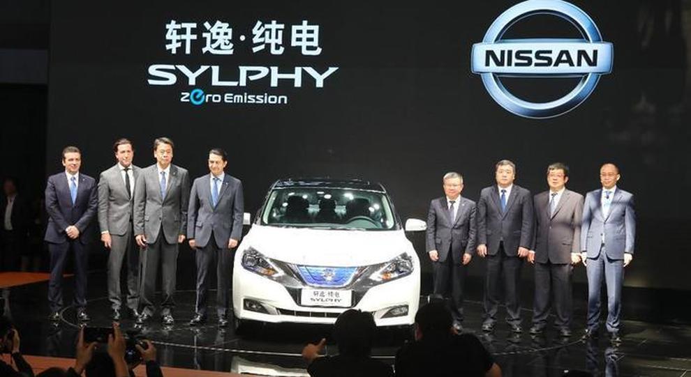 La presentazione della Sylphy al salone di Pechino 2018