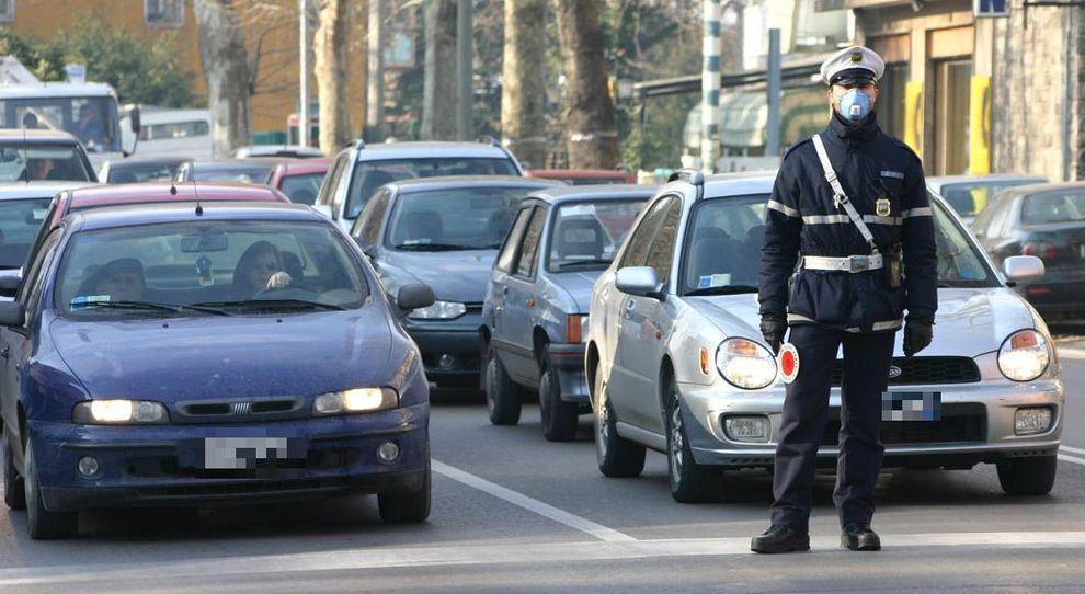 Un controllo stradale