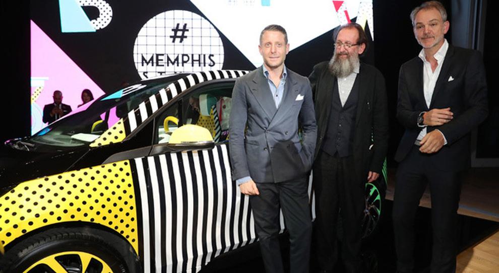 da sinistra Lapo Elkann,  l'architetto Michele De Lucchi e Adrian van Hooydonk, vice presidente di BMW Group Design