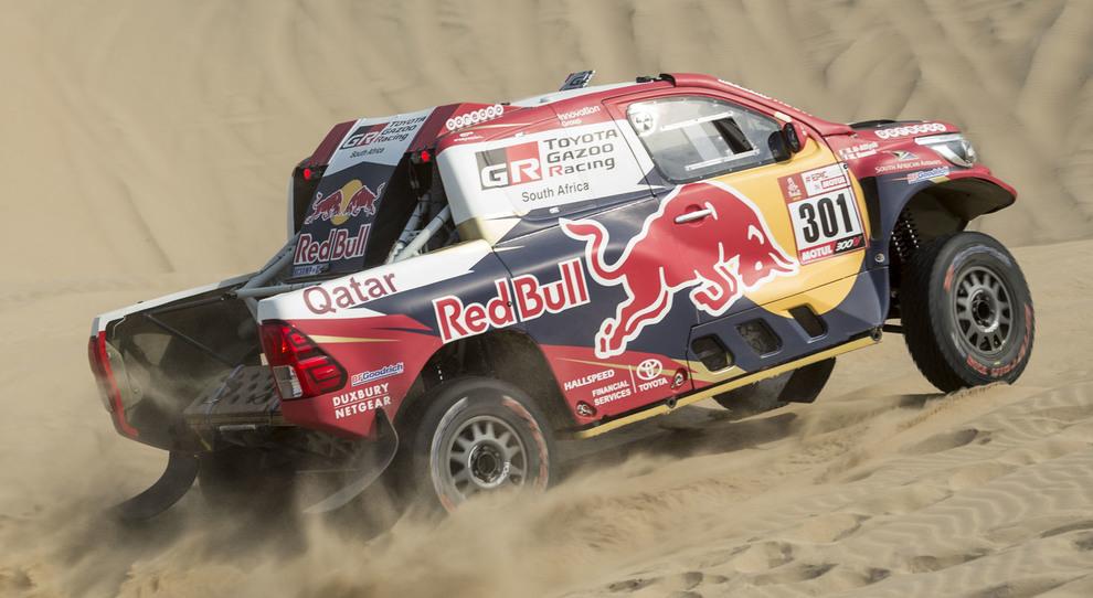 La Toyota Hilux di Al- Attiyah che si è aggiudicata la terza tappa della Dakar 2018