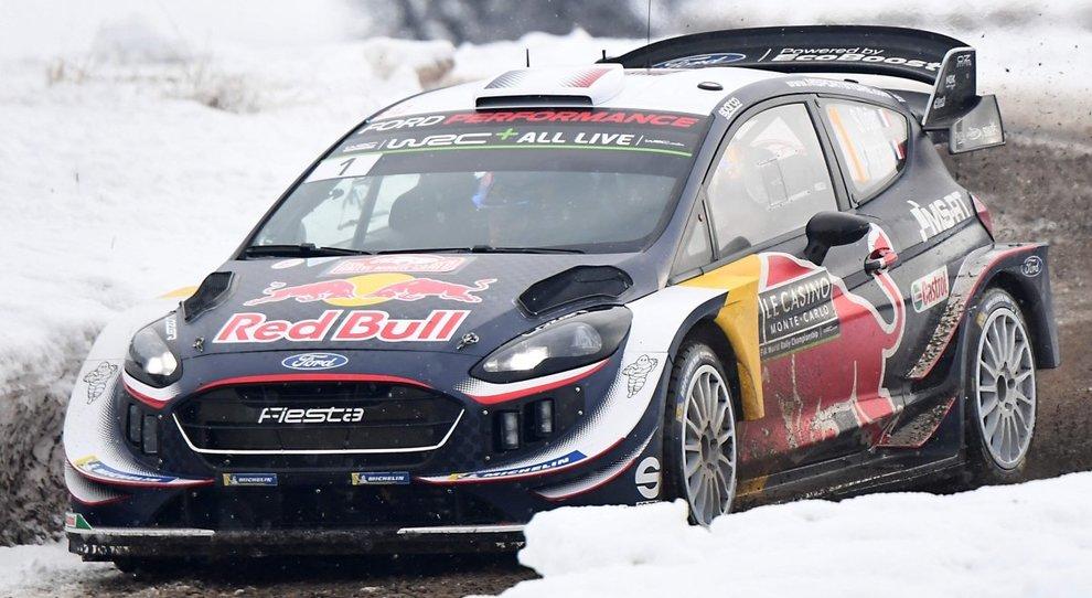 La Ford Fiesta WRC di Sebastien Ogier vincitrice a Montecarlo