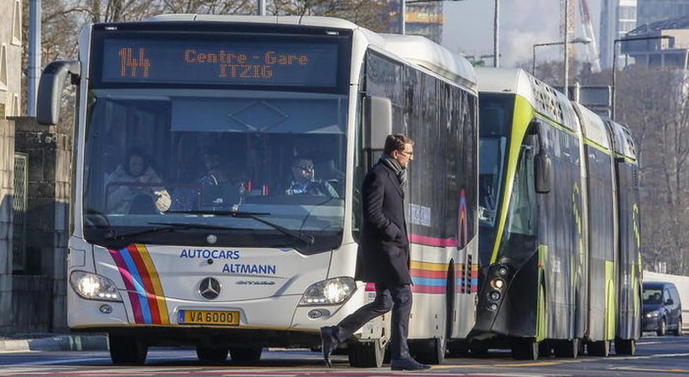 Un autobus pubblico in Lussemburgo