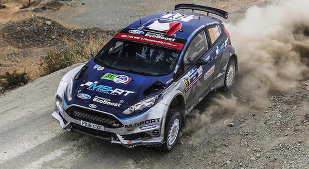 Sebastien Ogier impegnato nell'ultima prova messicana con la sua Ford M-Sport