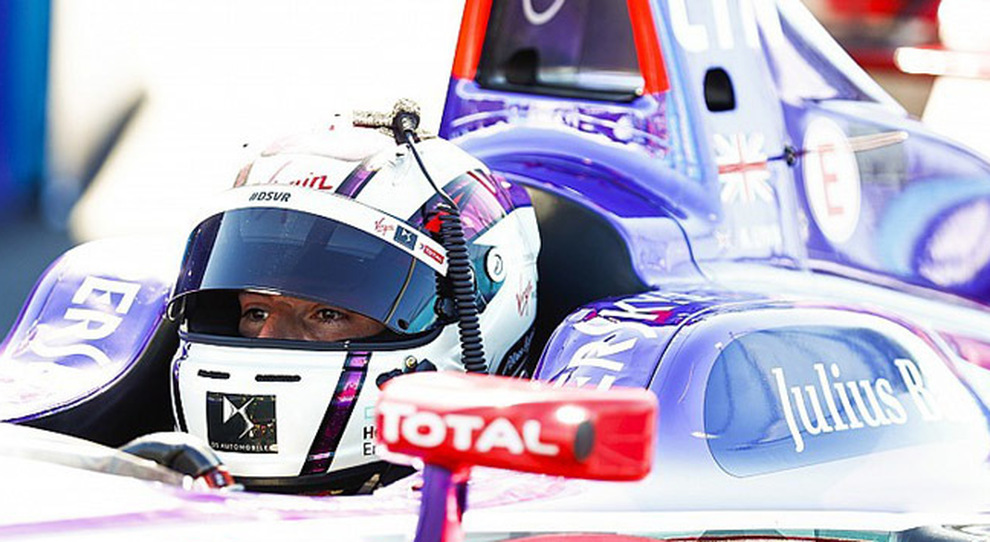Alex Lyn al volanet della DS Virgin all'e-prix di New York
