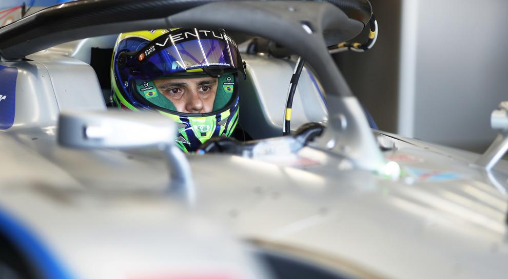 Felipe Massa, a bordo della sua Venturi