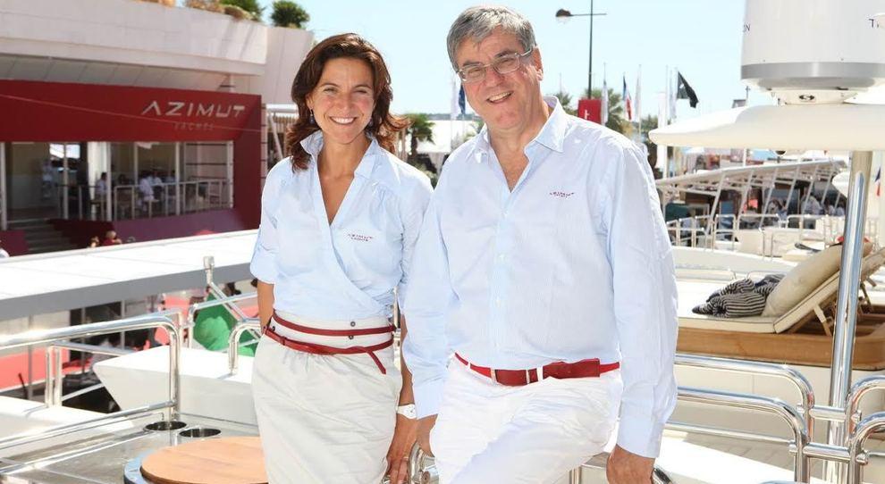 Giovanna e Paolo Vitelli, al timone della storica azienda nautica Azimut-Benetti
