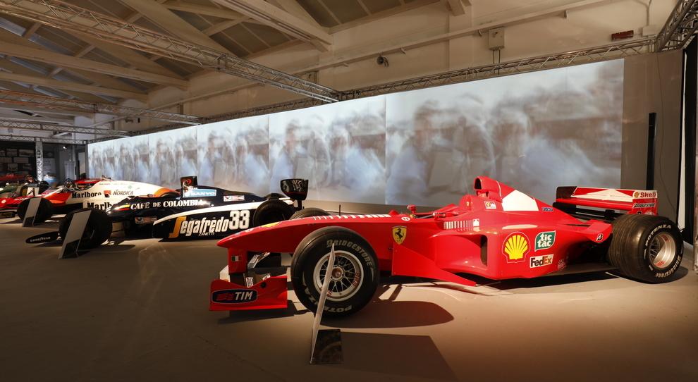 Le monomosto di Formula 1 esposte nel padiglione di Aci storico
