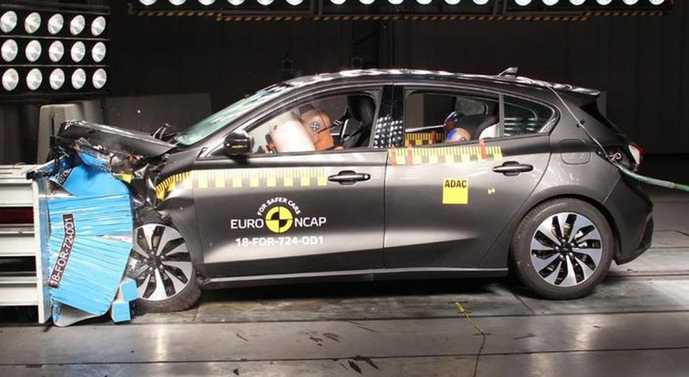 Una Ford Focus durante i test EuroNCAP