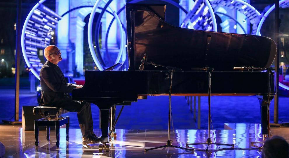 Ludovico Einaudi durante il concerto