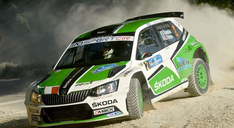 La Skoda fabia S2000 di Scandola-D'Amore che ha trionfato nel rally d'Adriatico