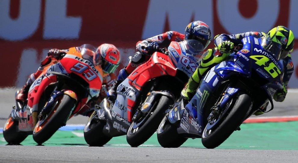 Valentino Rossi precede Dovizioso e Marquez ad Assen
