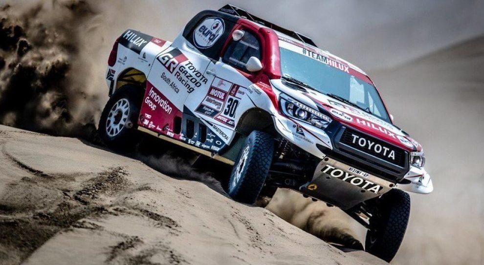 La Toyota Hilux del leader Al-Attiyah