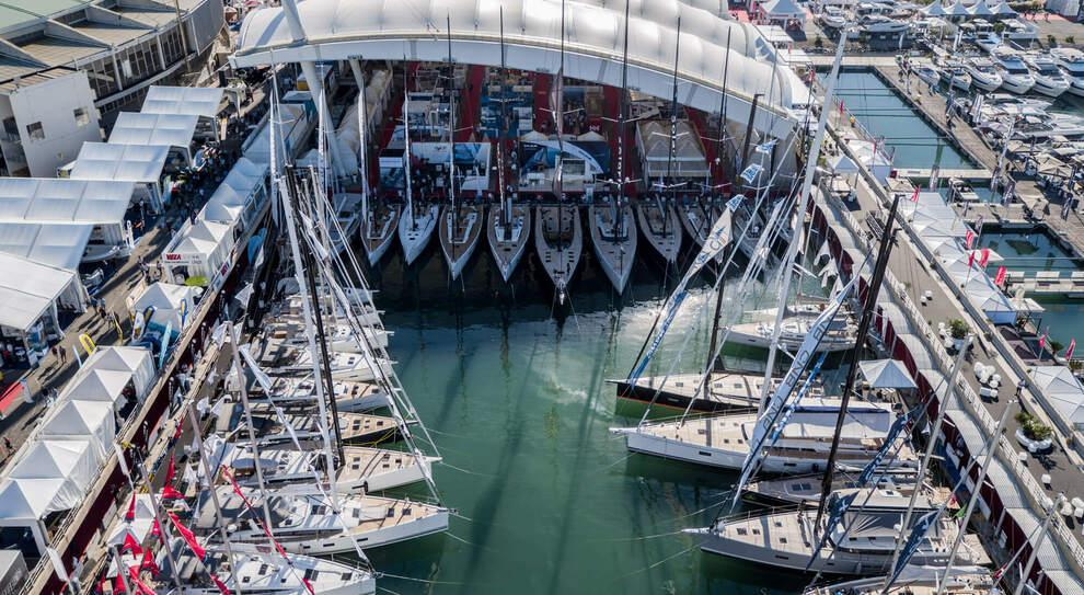 Un'edizione passata del salone nautico di Genova