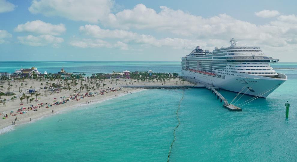 L'esclusiva isola Ocean Cay MSC Marine Reserve alle Bahamas è in esclusiva per gli ospiti MSC