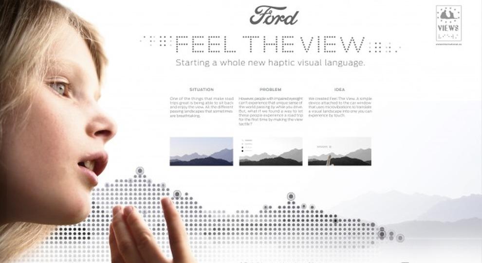Il finestrino diventa tattile con Ford Feel The View