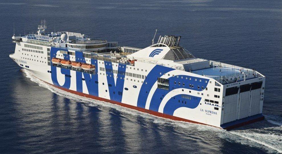 Una nave della compagnia Grandi Navi Veloci