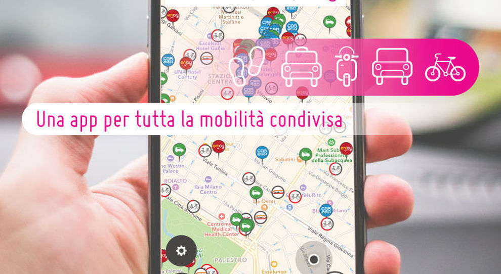 La App di Urbi che integra tutti i sistemi di mobilità urbana