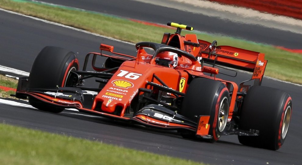 La Ferrari di Leclerc