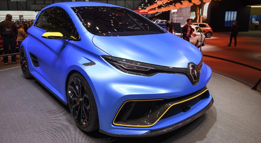 La Renault Zoe E-Sport Concept esposta a Ginevra