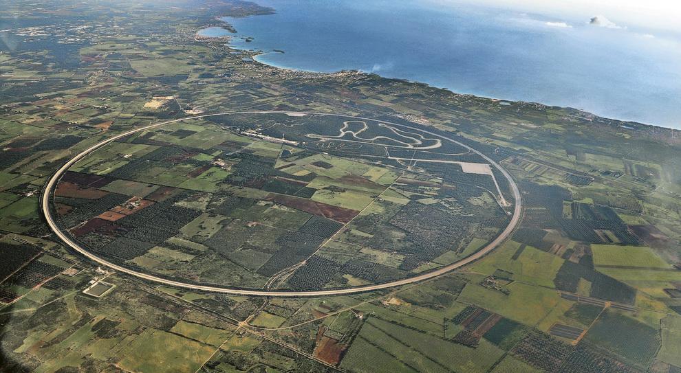 Una visione aerea della pista di Nardò