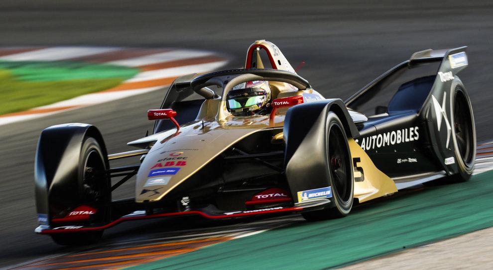 La DS Techeetah che ha preso il via nella Stagione 5 della Formula E