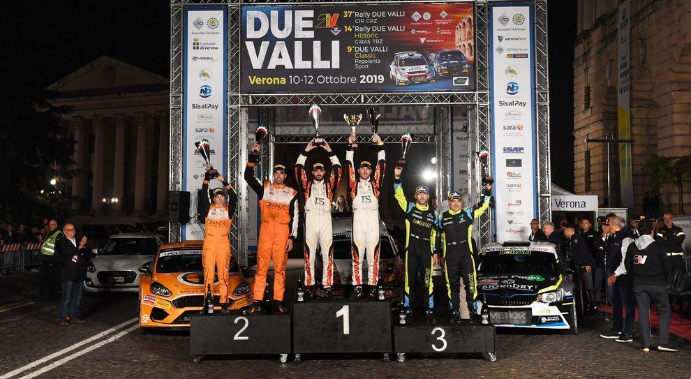 Il podio del Rally Due valli