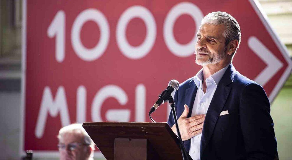 Maurizio arrivabene alla presentazione della Mille Miglia 2019
