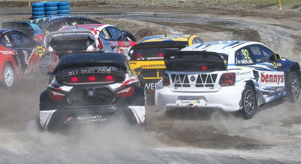 Un duello nel  campionato mondiale Rallycross