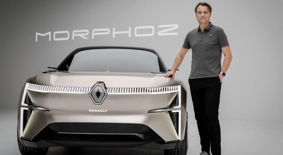 Laurens van den Acker, a capo del design Renault con la sua ultima creatura: il concept Morphoz