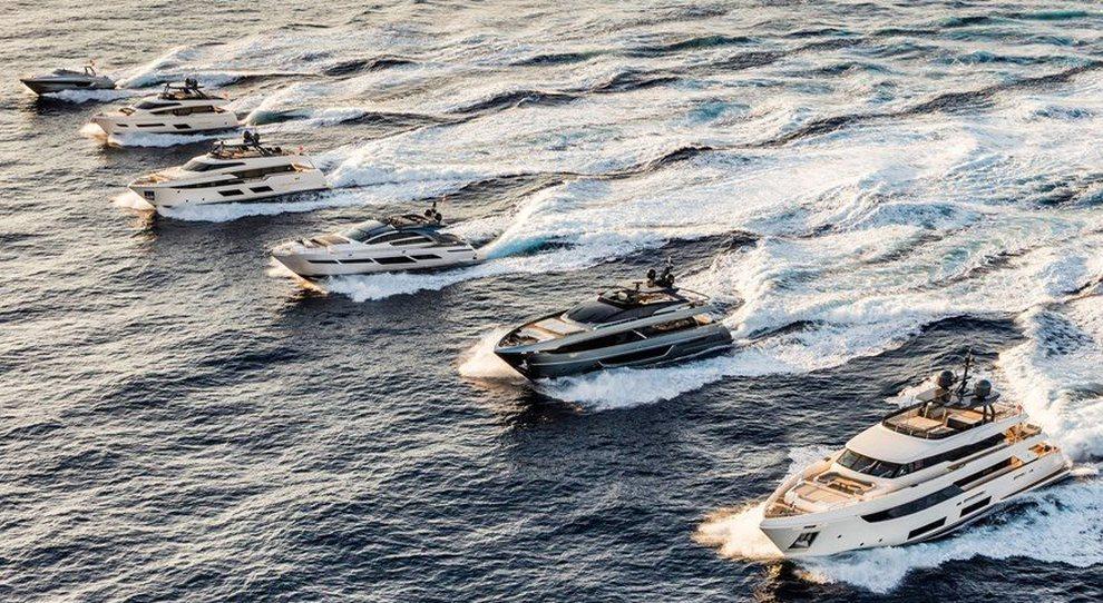 Alcuni dei gioielli della flotta del Ferretti Group