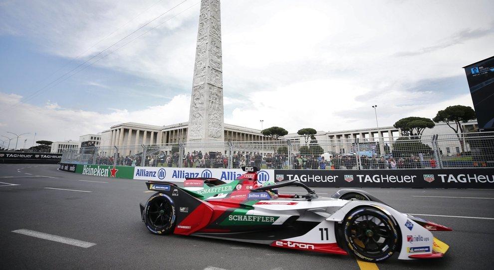 L'Audi in prova a Roma