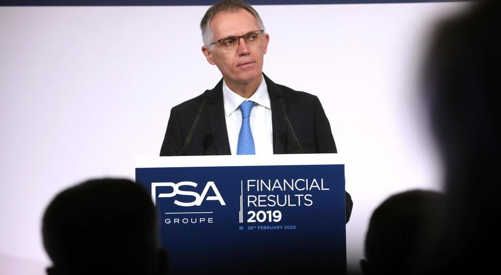 Carlos Tavares, ceo di Psa durante la conferenza di bilancio