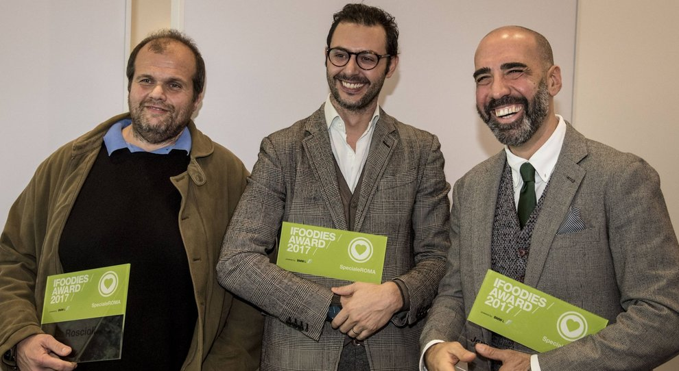 Da destra Mario Sansone, Jerry Thomas e Alessandro Roscioli
