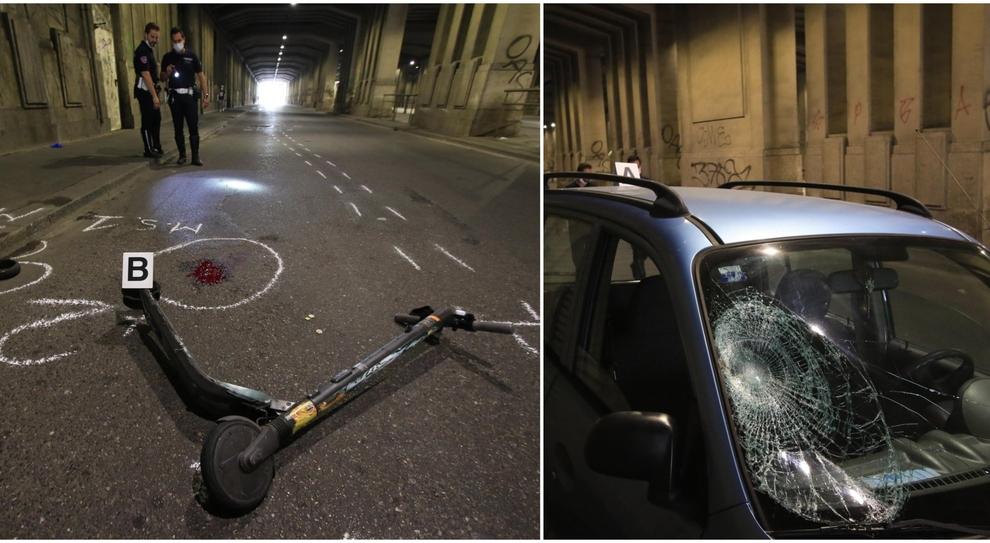 Milano, sbanda con il monopattino e si scontra con un'auto: 34enne in condizioni serie