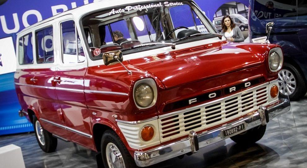 Il Ford Transit esposto a Padova