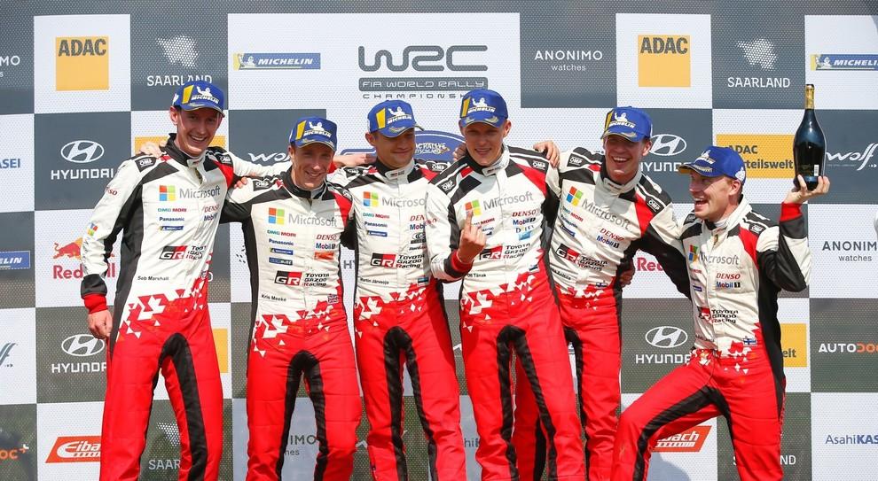Il podio tutto Toyota in Germania