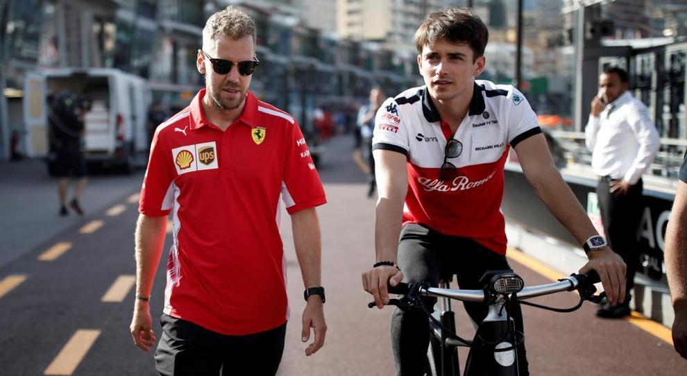 La nuova coppia di piloti Ferrari dalla stagione 2019: Sebastian Vettel e Charles Leclerc