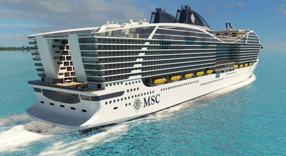 Una nave della flotta di Msc Crociere