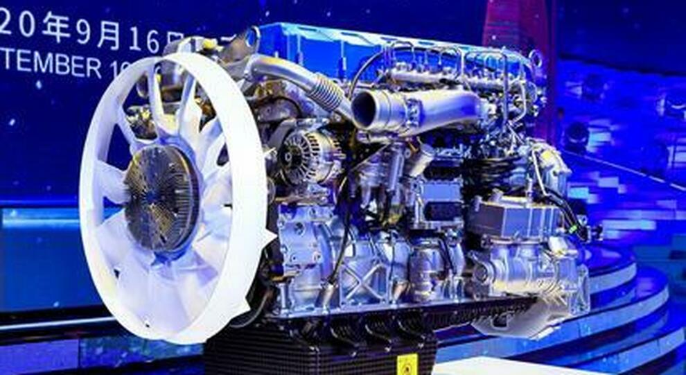 Il motore diesel di Weichai Group con efficienza termica oltre il 50%