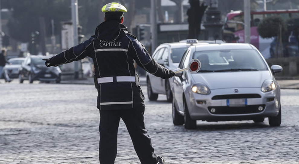 Vigili Urbani in azione a Roma